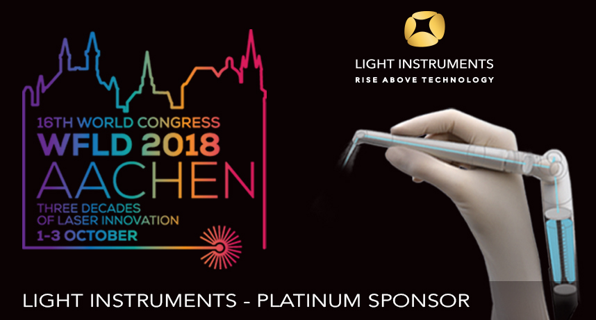 Light Instruments Platinum Sponsor of the  16 World Congress in Laser Dentistry