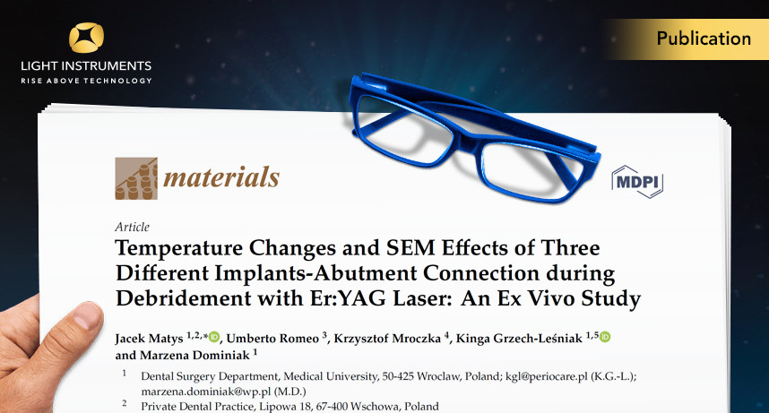 Temperature Changes and SEM Effects of Three Different Implants-Abutment Connection during Debridement with Er:YAG Laser: An Ex Vivo Study