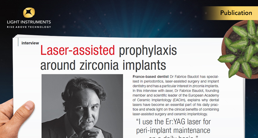 Laser-assisted prophylaxis around zirconia implants