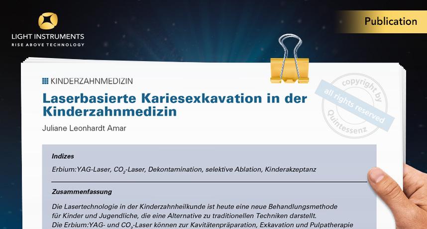 German Article – Laser-based caries excavation in pediatric dentistry (Laserbasierte kariesexkavation in der kinderzahnmedizin)