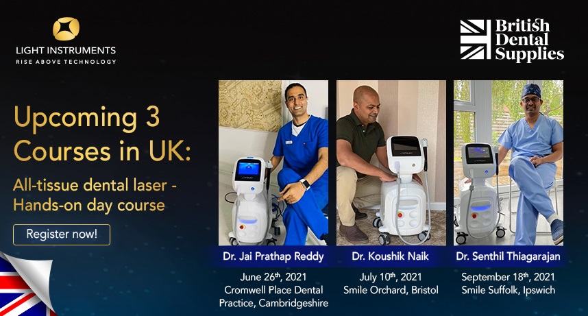 Upcoming 3 courses in UK! All Tissue Dental Laser – Hands on day courses